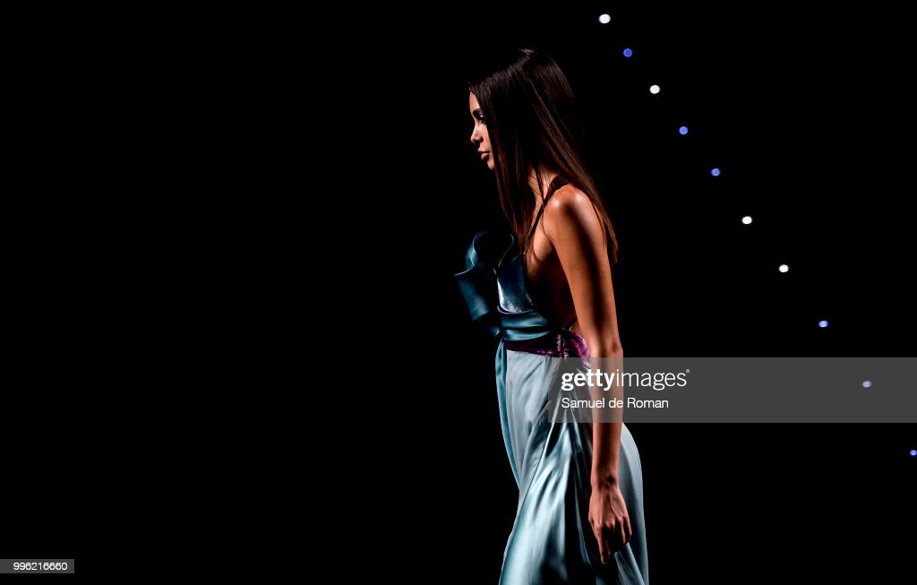 A Model Walks The Runway During Marcos Luengo Show At Mercedes Benz Fashion  Week Madrid Spring