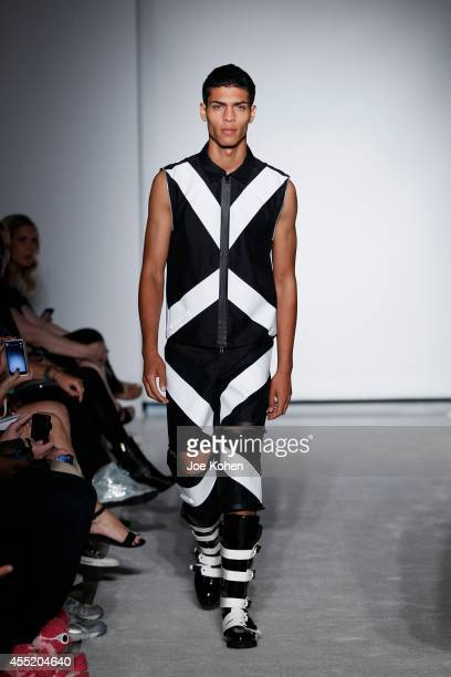 A model walks the runway during Maria Ke Fisherman spring 2015 at The Standard Hotel on September 10 2014 in New York City