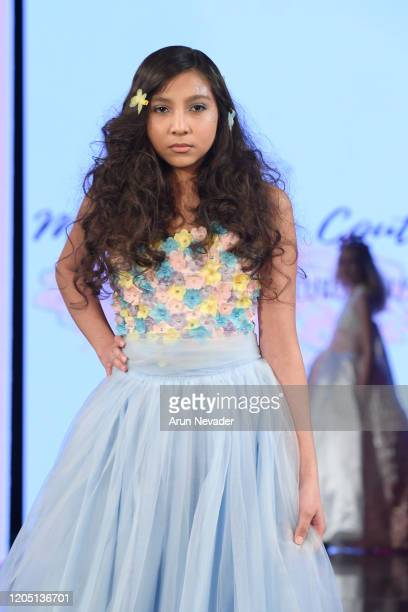 A model walks the runway during Marie Belle Couture At New York Fashion Week Powered By Art Hearts Fashion NYFW 2020 at The Angel Orensanz Foundation...