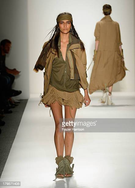 A model walks the runway during Nicholas K Spring 2014 fashion show at MercedesBenz Fashion Week Spring 2014 Official Coverage Best Of Runway Day 1...