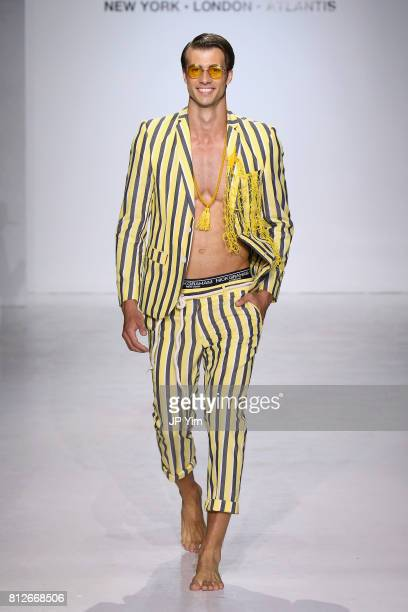 A model walks the runway during Nick Graham Atlantis SS18 at Skylight Clarkson SQ on July 11 2017 in New York City