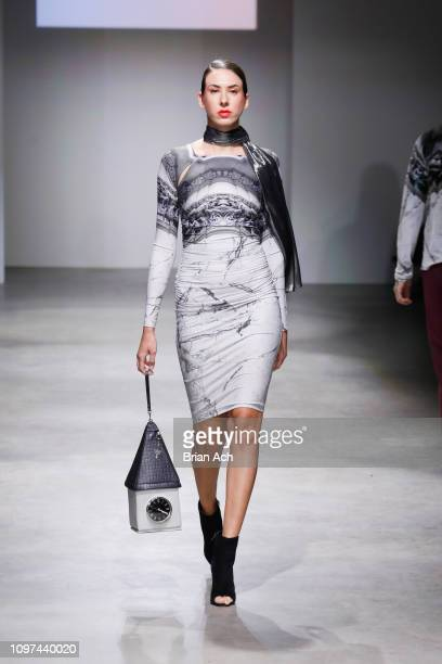 A model walks the runway during Nolcha Shows New York Fashion Week Fall/Winter 2019 Presented By InstaSleep Mint Melts ACID NYC Runway Show on...