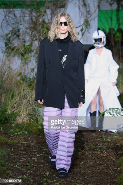 A model walks the runway during OffWhite Menswear Fall/Winter 20192020 show as part of Paris Fashion Week on January 16 2019 in Paris France