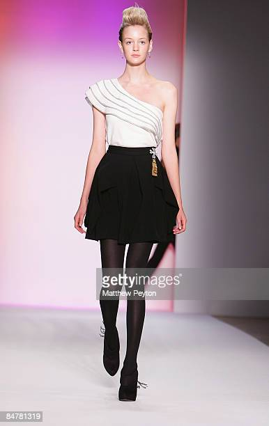 A model walks the runway during Payless at Abaete 2009 Fashion Show at the Mercedes Benz Fashion Week in New York February 13 2009