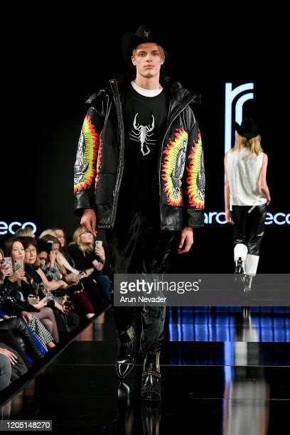 Model walks the runway during Ricardo Seco At New York Fashion Week Powered By Art Hearts Fashion NYFW 2020 at The Angel Orensanz Foundation on...
