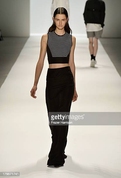 A model walks the runway during Richard Chai Spring 2014 fashion show at MercedesBenz Fashion Week Spring 2014 Official Coverage Best Of Runway Day 1...