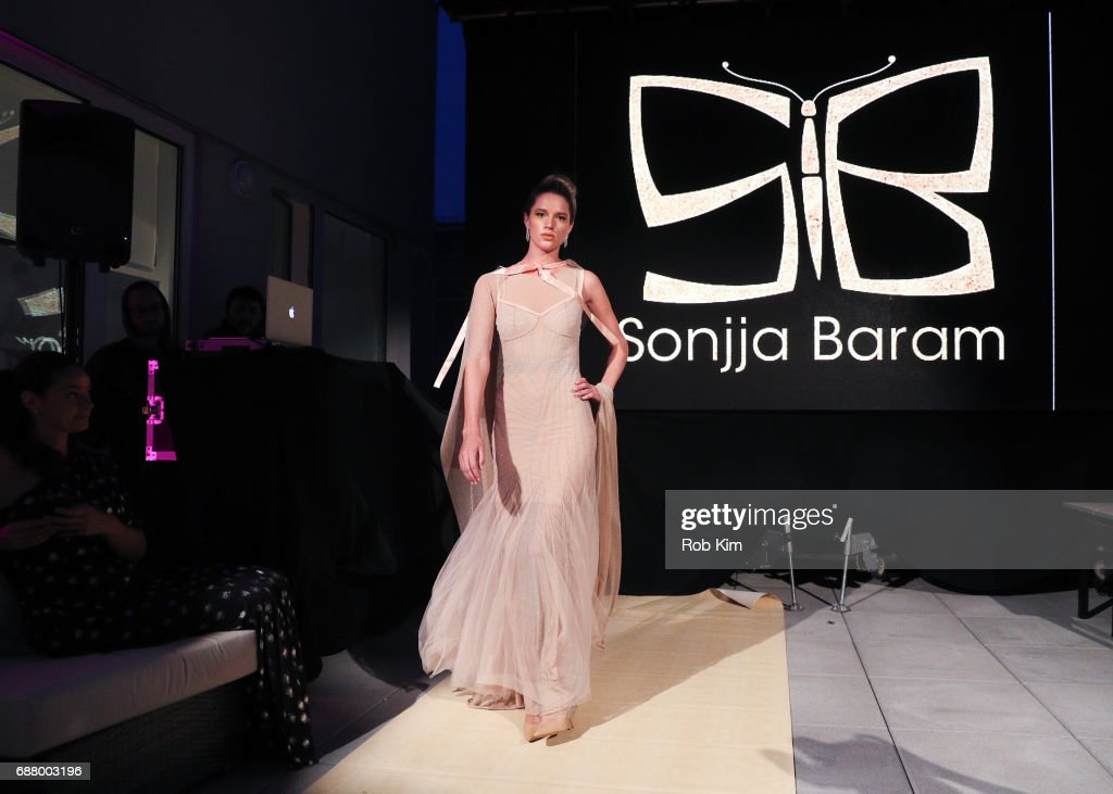 A model walks the runway during Sonjja Baram For Tzohar - Fashion Against Autism on May 24, 2017 in New York City.