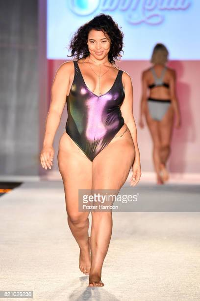 A model walks the runway during SWIMMIAMI Sports Illustrated Swimsuit 2018 Collection at WET Deck at W South Beach on July 22 2017 in Miami Beach...