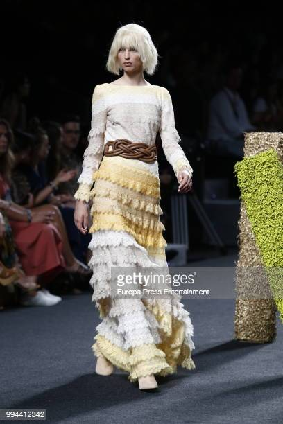 A model walks the runway during Teresa Helbig show at Mercedes Benz Fashion Week Madrid Spring/ Summer 2019 on July 8 2018 in Madrid Spain