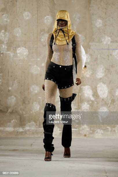 A model walks the runway during the 1017 ALYX 9SM Menswear Spring/Summer 2019 show as part of Paris Fashion Week on June 24 2018 in Paris France