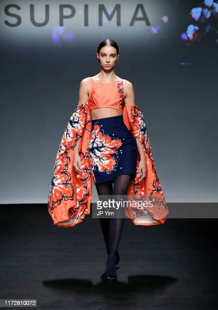 Model walks the runway during the 12th Annual Supima Design Competition at Pier 59 Studios on September 05, 2019 in New York City.