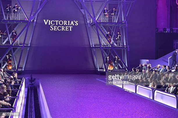 A model walks the runway during the 2016 Victoria's Secret Fashion Show on November 30 2016 in Paris France