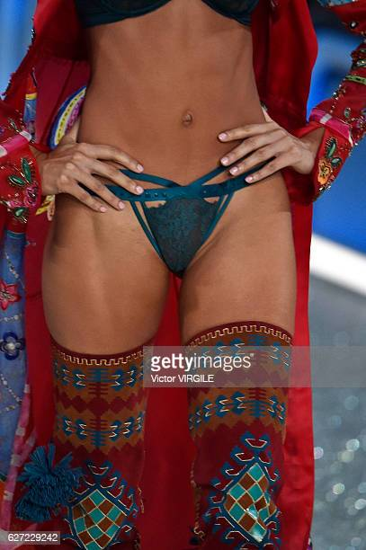 Model walks the runway during the 2016 Victoria's Secret Fashion Show on November 30, 2016 in Paris, France.