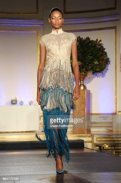 A model walks the runway during the 2018 China Fashion Gala at The Plaza Hotel on May 4 2018 in New York City