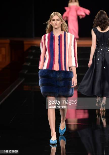 Model walks the runway during the 2019 Symphony Fashion Show at Schermerhorn Symphony Center on May 14, 2019 in Nashville, Tennessee.
