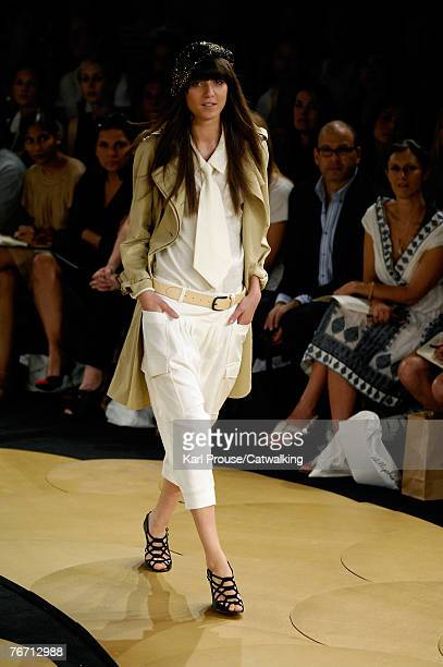 Model walks the runway during the 3.1 Phillip Lim 2008 Fashion Show at the NY Public Library during the Mercedes-Benz Fashion Week Spring 2008 on...