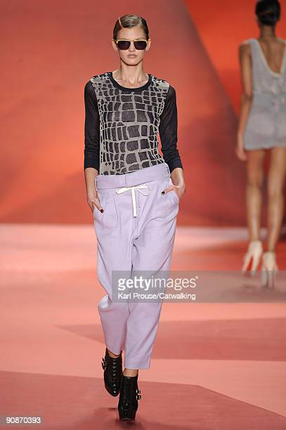 Model walks the runway during the 3.1 Phillip Lim Spring Summer 2010 Ready To Wear show, part of Mercedes-Benz Fashion Week at 511 West 25th Street...