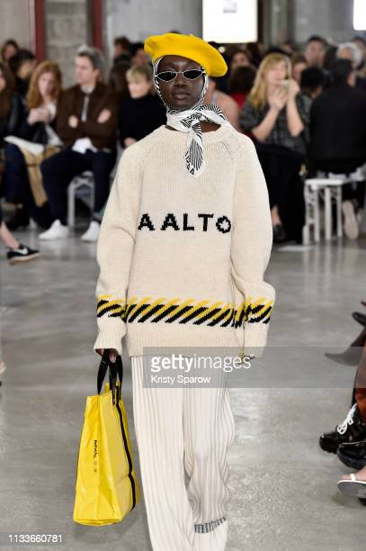 A model walks the runway during the Aalto show as part of the Paris Fashion Week Womenswear Fall/Winter 2019/2020 on February 27 2019 in Paris France