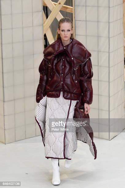 A model walks the runway during the Aalto show as part of the Paris Fashion Week Womenswear Fall/Winter 2017/2018 on February 28 2017 in Paris France