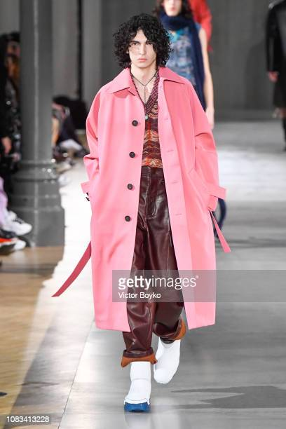 A model walks the runway during the Acne Studio Menswear Fall/Winter 20192020 show as part of Paris Fashion Week on January 16 2019 in Paris France