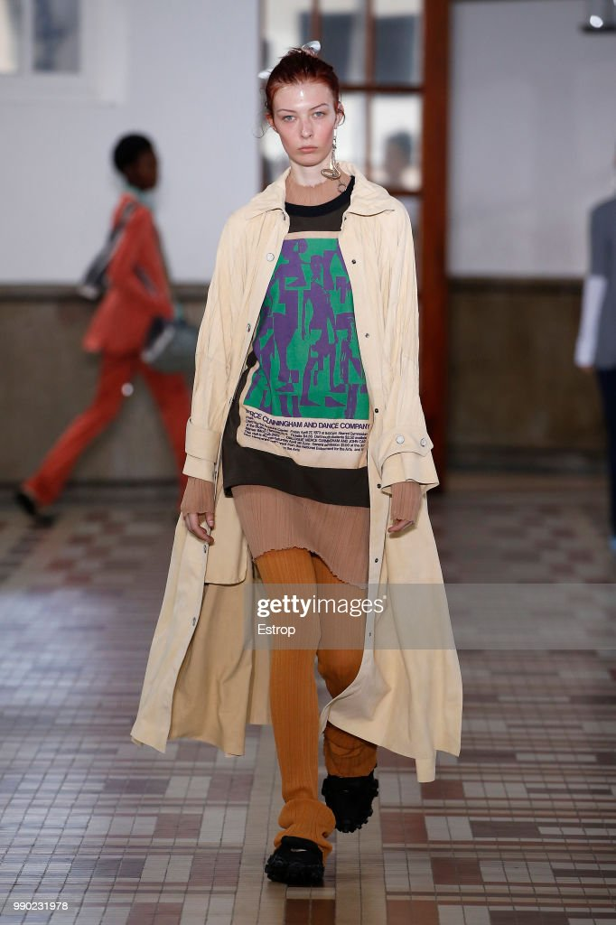 model-walks-the-runway-during-the-acne-studios-runway-paris-fashion-picture-id990231978