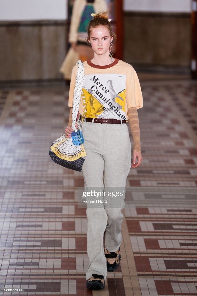 model-walks-the-runway-during-the-acne-studios-womenswear-spring-picture-id988872890