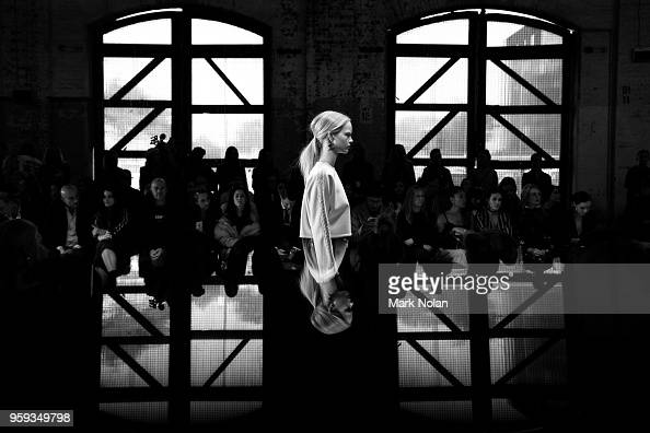 A model walks the runway during the Active Showcase at MercedesBenz Fashion Week Resort 19 Collections at Carriageworks on May 17 2018 in Sydney...