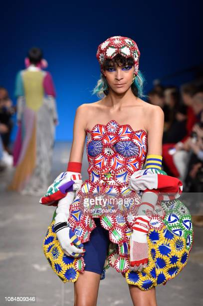 A model walks the runway during the adidas MakerLab show as part of Paris Fashion Week at Garage Amelot on January 18 2019 in Paris France
