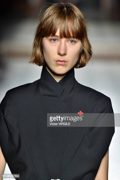A model walks the runway during the AF Vandevorst Haute Couture Spring Summer 2018 show as part of Paris Fashion Week on January 25 2018 in Paris...