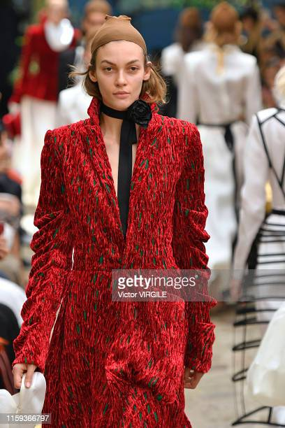A model walks the runway during the Aganovich Haute Couture Fall/Winter 2019 2020 show as part of Paris Fashion Week on June 30 2019 in Paris France