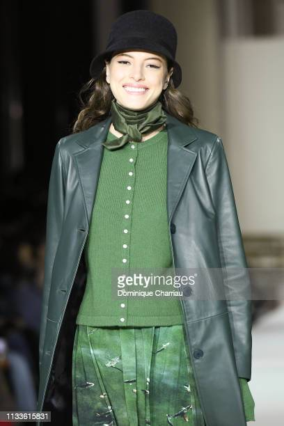 Model walks the runway during the Agnes B. Show as part of the Paris Fashion Week Womenswear Fall/Winter 2019/2020 on March 04, 2019 in Paris, France.