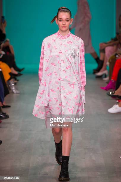 A model walks the runway during the Akira show at MercedesBenz Fashion Week Resort 19 Collections at Carriageworks on May 17 2018 in Sydney Australia