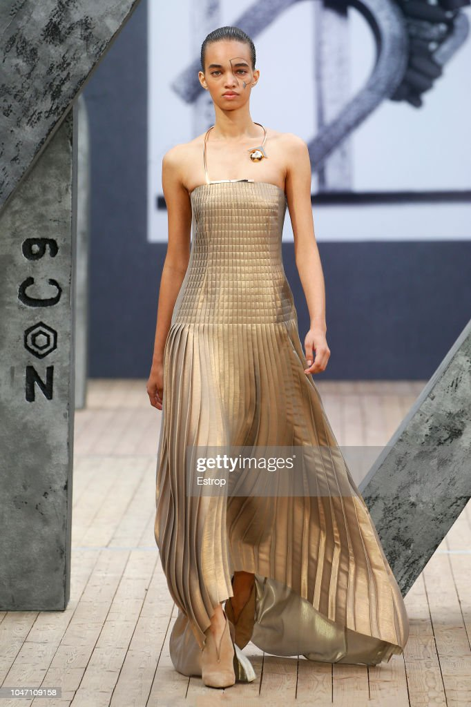 Akris : Runway - Paris Fashion Week Womenswear Spring/Summer 2019 : Photo d'actualité