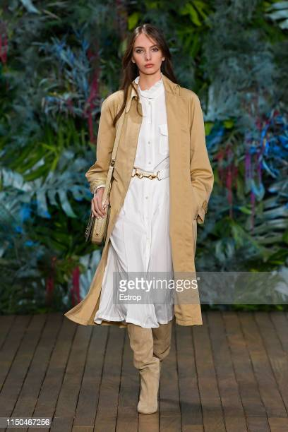 A model walks the runway during the Alberta Ferretti Cruise 2020 Collection At Monaco Yatch Club on May 18 2019 in MonteCarlo Monaco