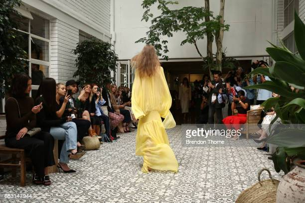 A model walks the runway during the Albus Lumen show at MercedesBenz Fashion Week Resort 18 Collections at La Porte Deux on May 15 2017 in Sydney...