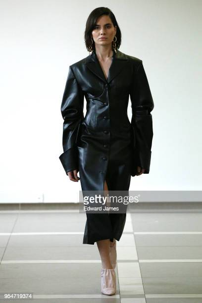 A model walks the runway during the Aleksandre Akhalkatsishvili Fall/Winter 2018/2019 Collection fashion show at MercedesBenz Fashion Week Tbilisi on...