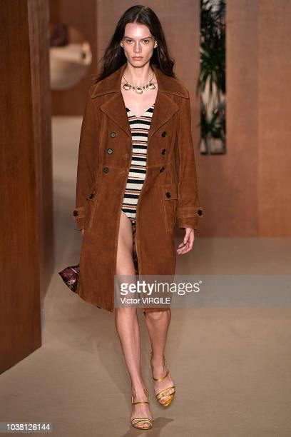 A model walks the runway during the ALEXACHUNG Ready to Wear Spring/Summer 2019 fashion show during London Fashion Week September 2018 on September...