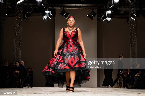 Model walks the runway during the Alexander McQueen as part of the Paris Fashion Week Womenswear Fall/Winter 2020/2021 on March 02, 2020 in Paris,...