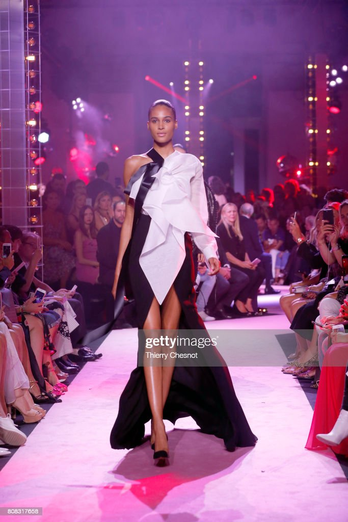 A model walks the runway during the Alexander Vauthier Haute Couture Fall/Winter 2017-2018 show as part of Haute Couture Paris Fashion Week on July 4, 2017 in Paris, France.