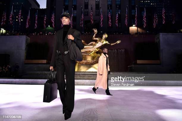 A model walks the runway during the Alexander Wang Collection 1 fashion show at Rockefeller Center on May 31 2019 in New York City