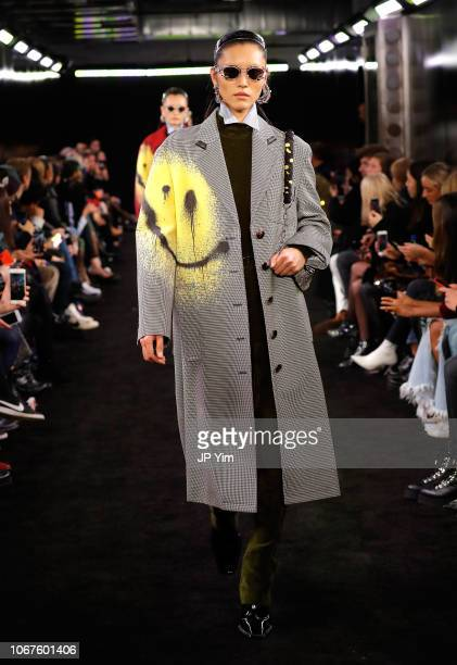 A model walks the runway during the Alexander Wang Fall 2019 show at One Hanson Place on December 1 2018 in New York City