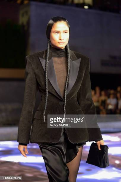 A model walks the runway during the Alexander Wang Ready to Wear Fall/Winter 2019/2020 at Rockefeller Center on May 31 2019 in New York City