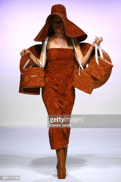A model walks the runway during the Alexandre Arutnyov Fall/Winter 2018/2019 Collection fashion show at MercedesBenz Fashion Week Tbilisi on May 5...