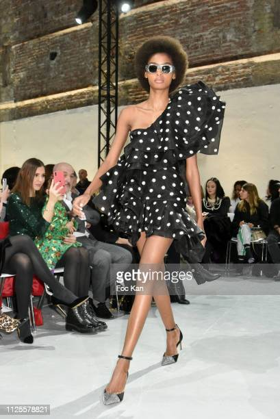 A model walks the Runway during the Alexandre Vauthier Haute Couture Spring Summer 2019 show as part of Paris Fashion Week on January 22 2019 in...