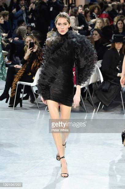 A model walks the runway during the Alexandre Vauthier Haute Couture Spring/Summer 2020 show as part of Paris Fashion Week on January 21 2020 in...