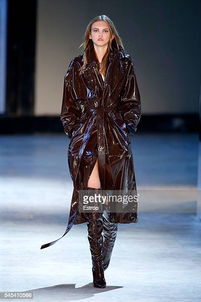 A model walks the runway during the Alexandre Vauthier Haute Couture Fall/Winter 20162017 show as part of Paris Fashion Week on July 5 2016 in Paris...