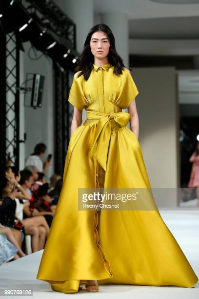A model walks the runway during the Alexis Mabille Haute Couture Fall Winter 2018/2019 show as part of Paris Fashion Week on July 3 2018 in Paris...