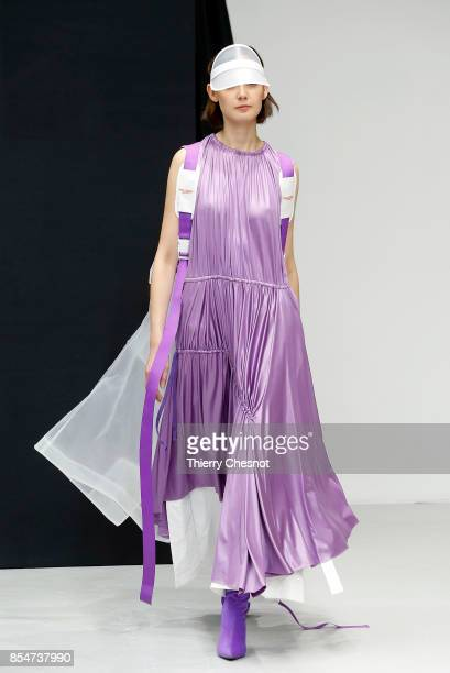 A model walks the runway during the Alexstorm show as part of the Paris Fashion Week Womenswear Spring/Summer 2018 on September 27 2017 in Paris...