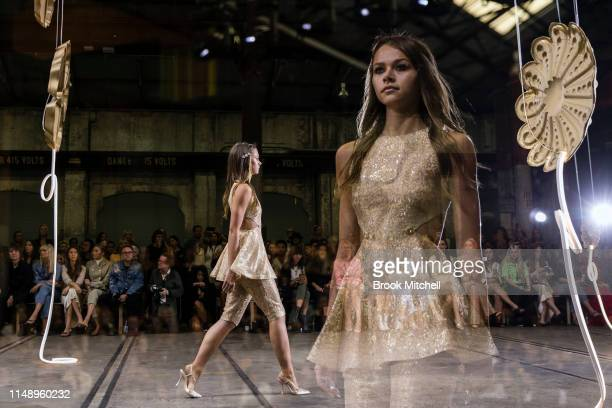 A model walks the runway during the Alice McCall show at MercedesBenz Fashion Week Resort 20 Collections at Carriageworks on May 14 2019 in Sydney...
