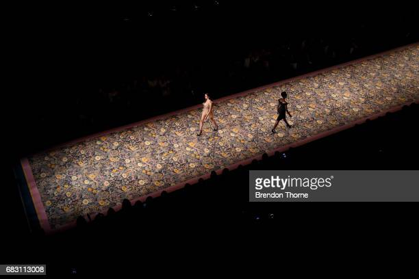 A model walks the runway during the Alice McCall show at MercedesBenz Fashion Week Resort 18 Collections at Carriageworks on May 15 2017 in Sydney...